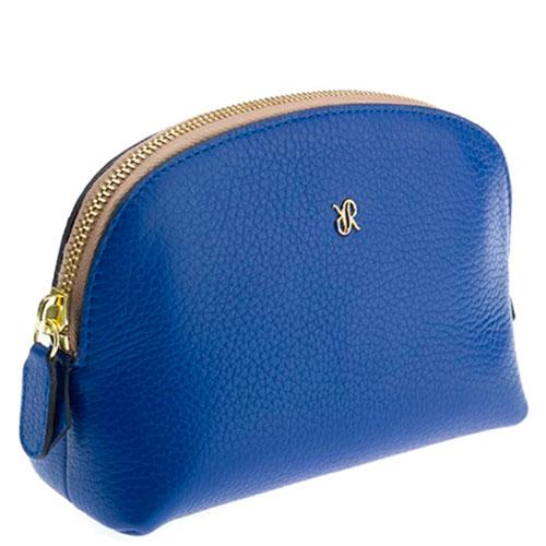 Синяя косметичка Rapport с логотипом, фото