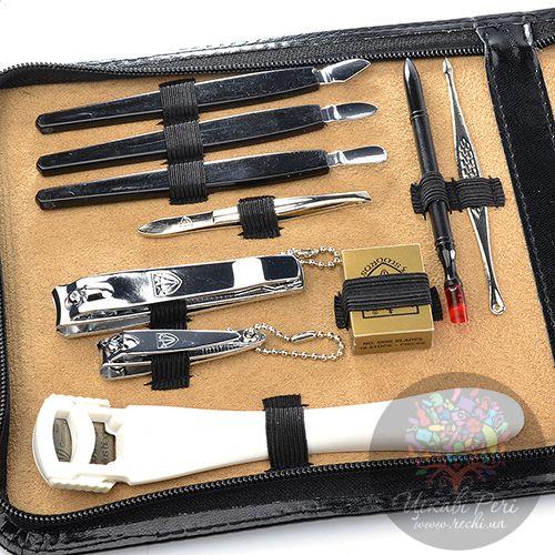 Маникюрный набор Kellermann с 18 инструментами в черном футляре на молнии, фото