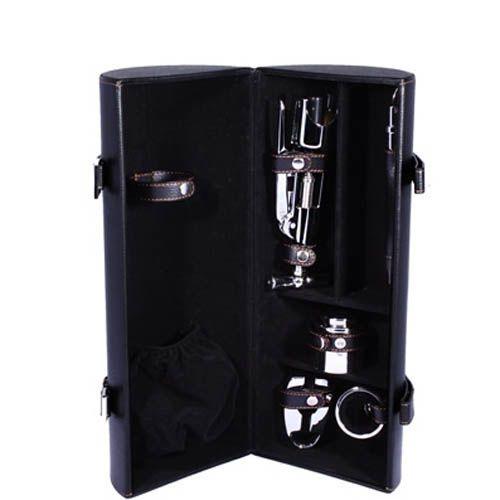 Винный набор Tong черного цвета с отделением для бутылки вина, фото