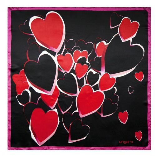 Набор Ungaro «Сердце» из брелока и шелкового платка, фото