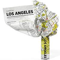 Мятая карта Palomar Los Angeles, фото