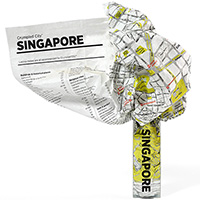 Мятая карта Palomar Singapore, фото