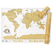 Скретч карта путешественника Luckies, фото