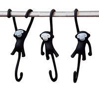 Крючки для кухни Monkey Business Just Hanging черные, фото