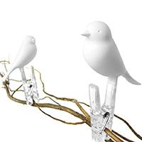 Набор прищепок Qualy Peg Sparrow белого цвета, фото