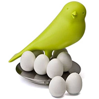 Магниты-яйца Qualy Magnetic Egg Sparrow на холодильник, фото