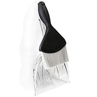 Совок и щетка для уборки Qualy Sweepie Sparrow черного цвета, фото