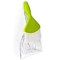Совок и щетка для уборки Qualy Sweepie Sparrow зеленого цвета, фото