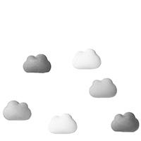 Набор магнитов Qualy Note On tne Cloud 6шт, фото