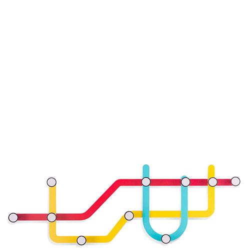 Настенная вешалка Umbra Subway, фото