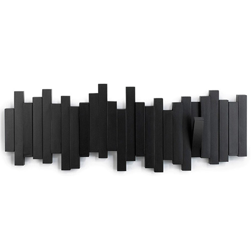 Черная вешалка Umbra Sticks на пять крючков, фото