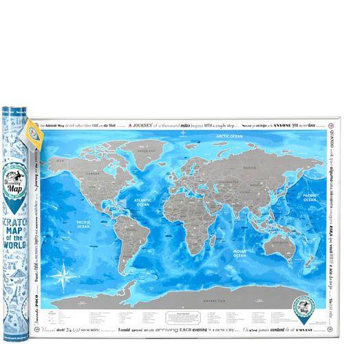 Скретч карта Discovery Map World на английском языке, фото