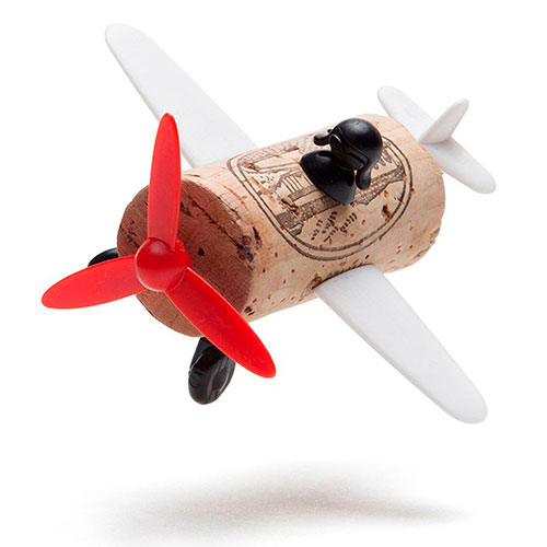 Набор украшений для пробки Monkey Business Plane Captain Curtis Corkers Classics, фото