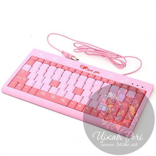 Мини-клавиатура розовая для блондинок, фото