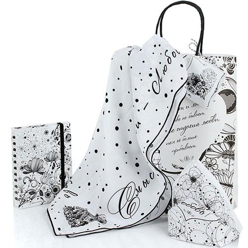 Женский подарочный набор OpenMind Love с платком и блокнотом, фото