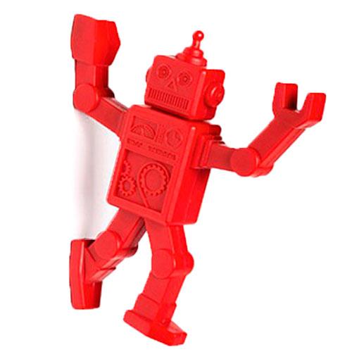 Магнитный крючок для холодильника Peleg Design Robohook красный, фото