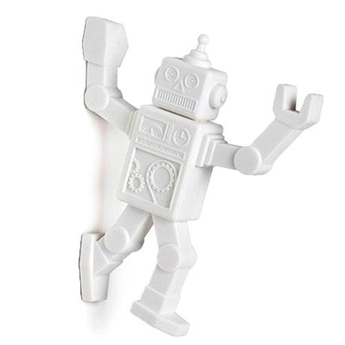 Магнитный крючок для холодильника Peleg Design Robohook белый, фото