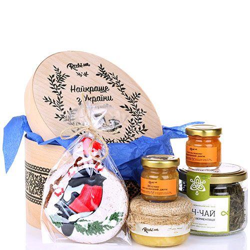 Круглый набор вкусняшек Найкраще з України с пряником и сладкими джемами, фото