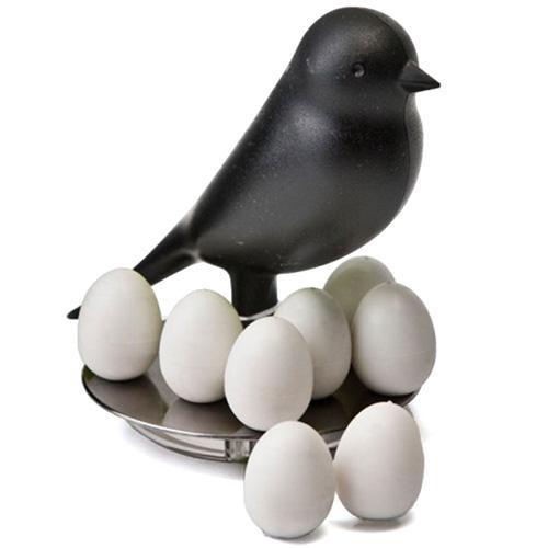 Набор магнитов на холодильник Qualy Magnetic Egg Sparrow, фото