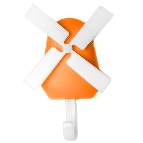 Крючок настенный Qualy Windmill оранжевый, фото