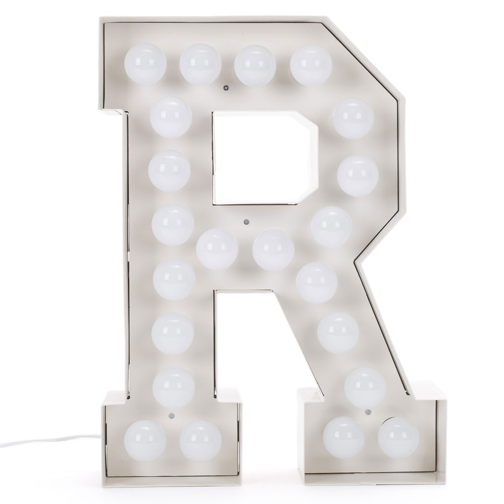 Буква R Seletti с подсветкой
