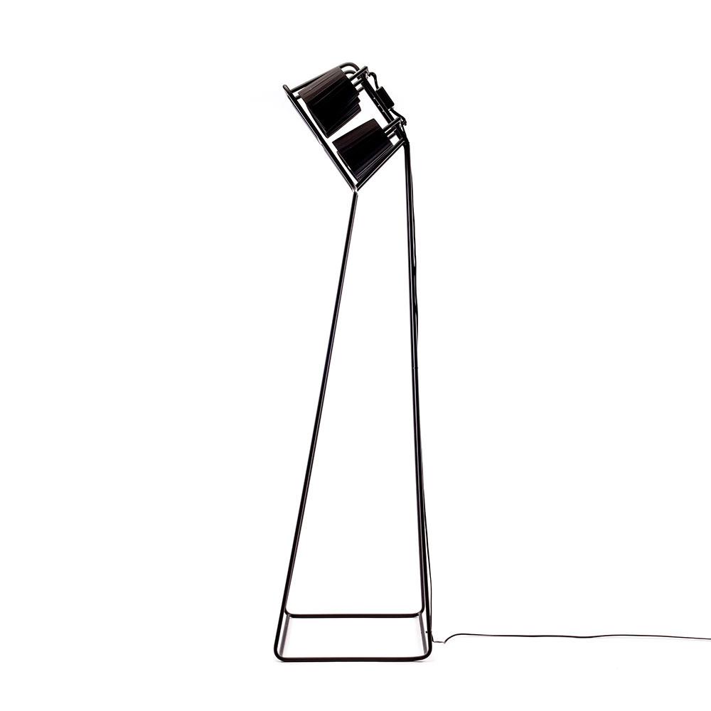 Черный торшер  Seletti на 6 лампочек