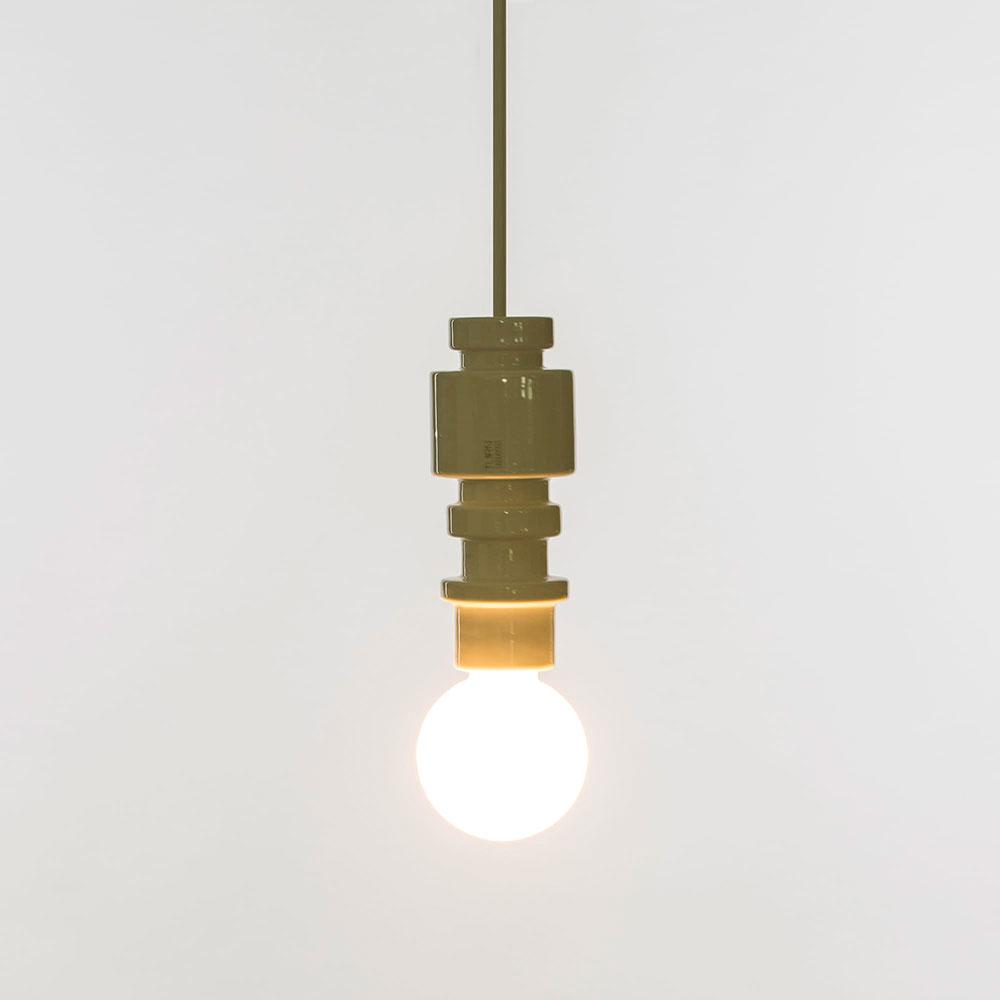 Белый подвесной светильник Seletti Turn