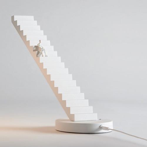 Настольная лампа Seletti Verso Lamp Лестница белая