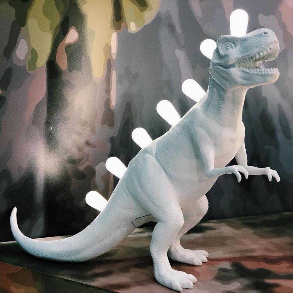 Светильник настольный Seletti Jurassic Lamp Rex белый динозавр