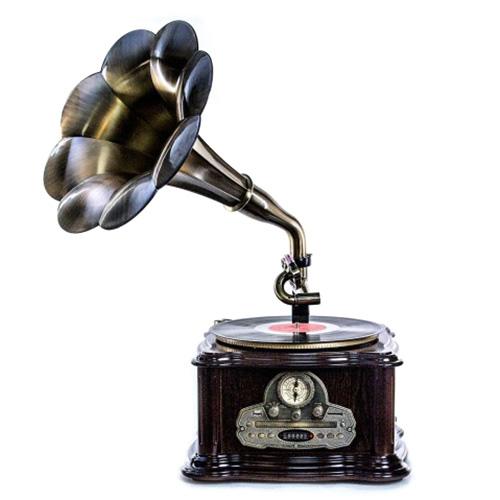 Деревянный граммофон Daklin Париж с тумбой