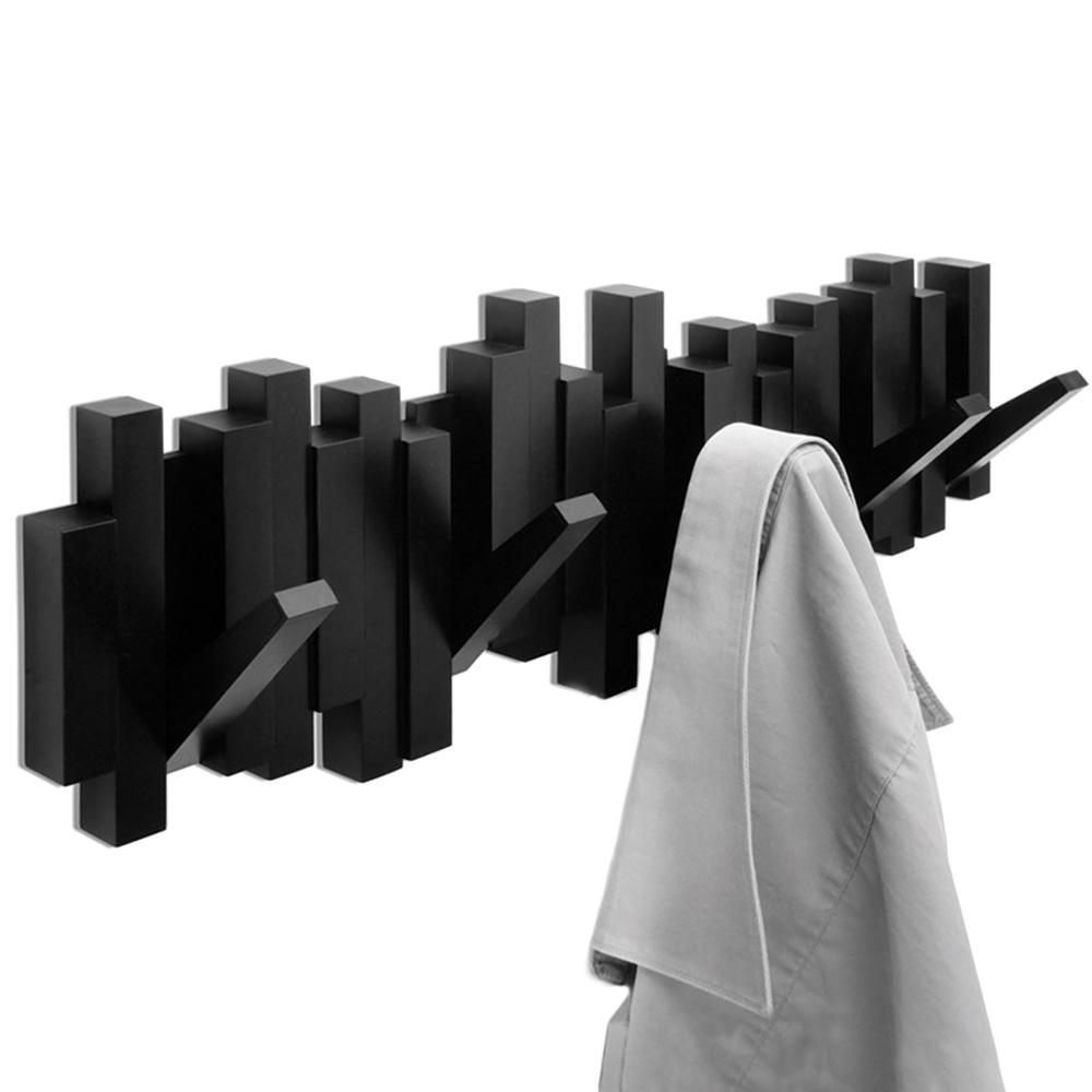 Черная вешалка Umbra Sticks на пять крючков