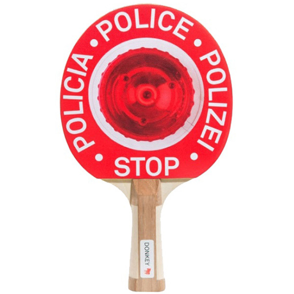 Красная ракетка для настольного тенниса Donkey Patrol