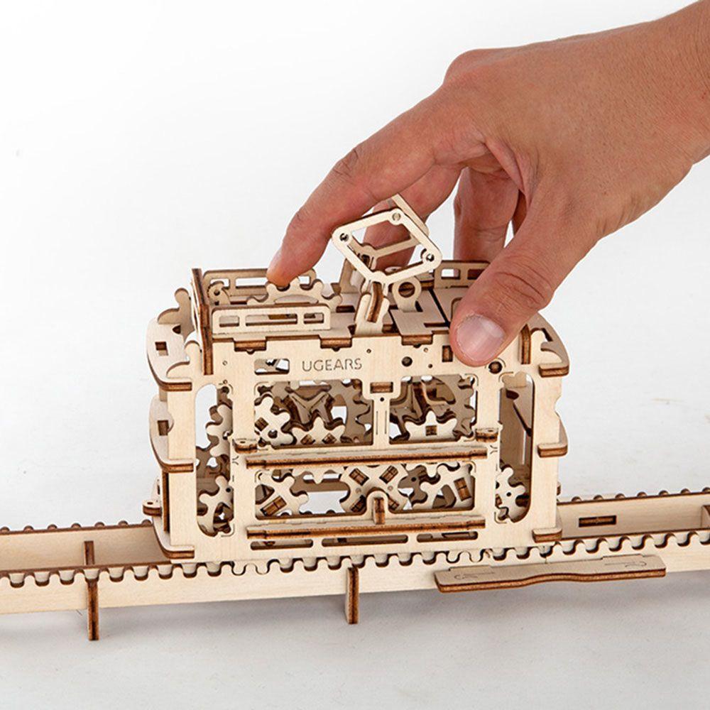 Механический 3D пазл Ukrainian Gears Трамвай с рейками