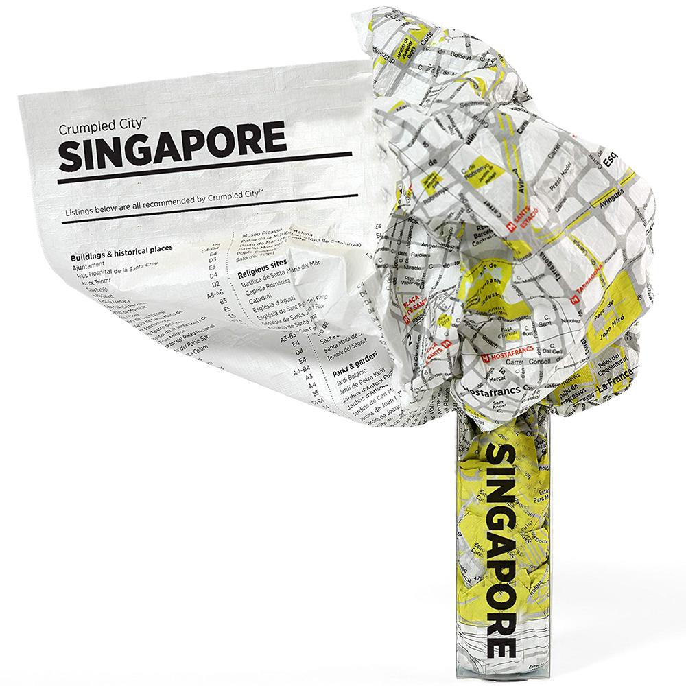 Мятая карта Palomar Singapore