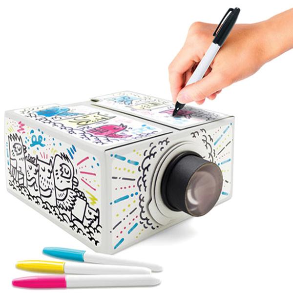 Проектор-раскраска для смартфона Luckies с маркерами в наборе