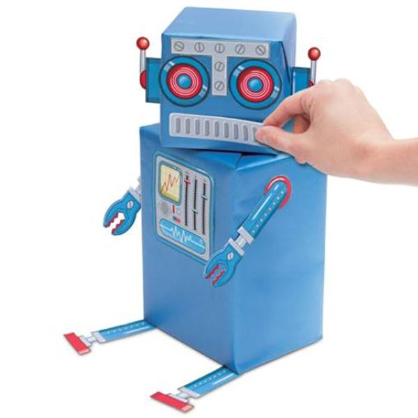 Набор для упаковки подарков Luckies Robot Gift Wrap