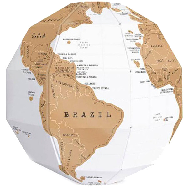 Скретч глобус Luckies 3D World Map Scratch Globe
