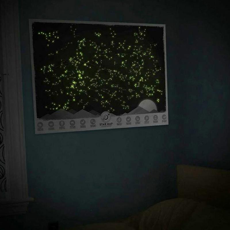 Карта звездного неба Luckies на английском языке