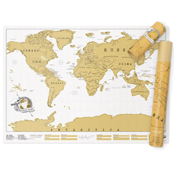 Скретч карта путешественника Luckies