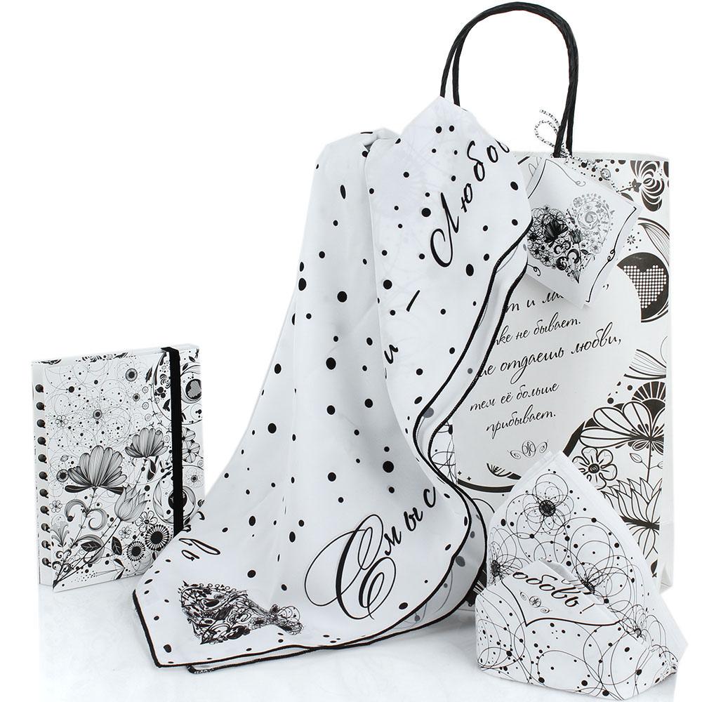 Женский подарочный набор OpenMind Love с платком и блокнотом