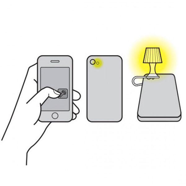Мини-ночник для смартфона Peleg Design Luma серый