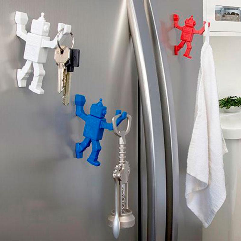 Магнитный крючок для холодильника Peleg Design Robohook красный