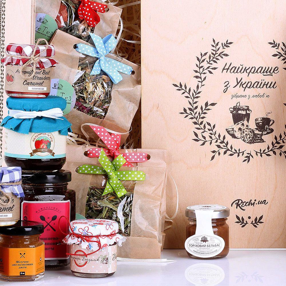 Набор вкусняшек Найкраще з України с печеньками и сладкими джемами