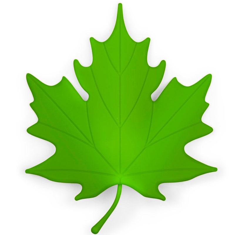 Фиксатор для двери Qualy Autumn зеленого цвета