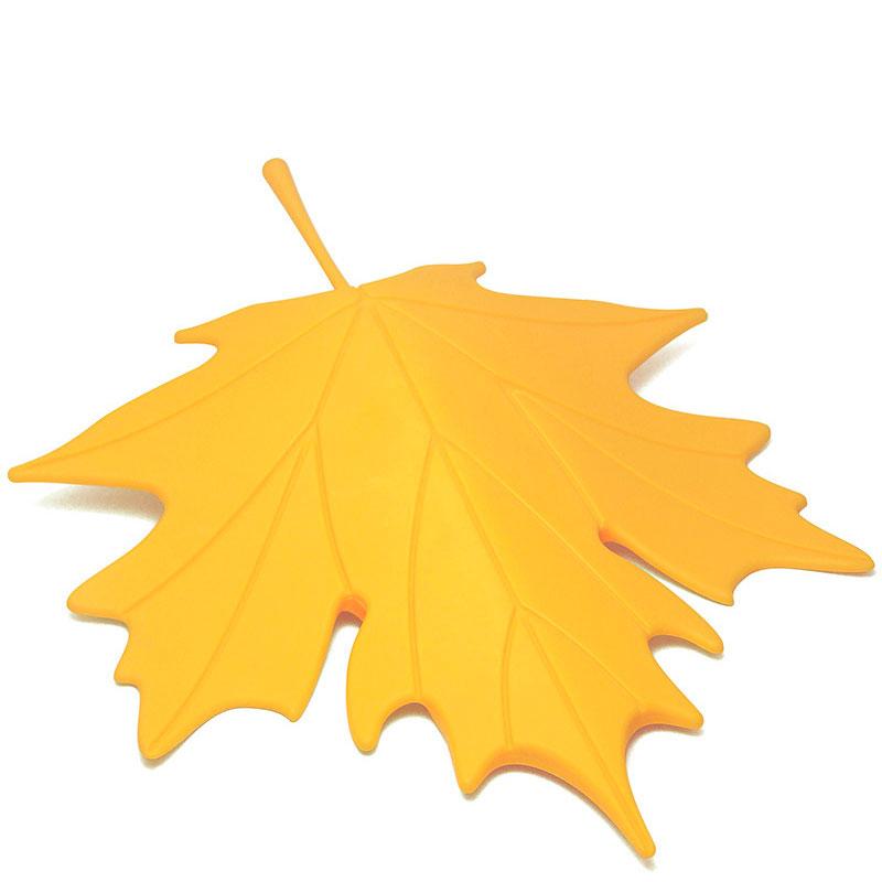 Фиксатор для двери Qualy Autumn желтого цвета