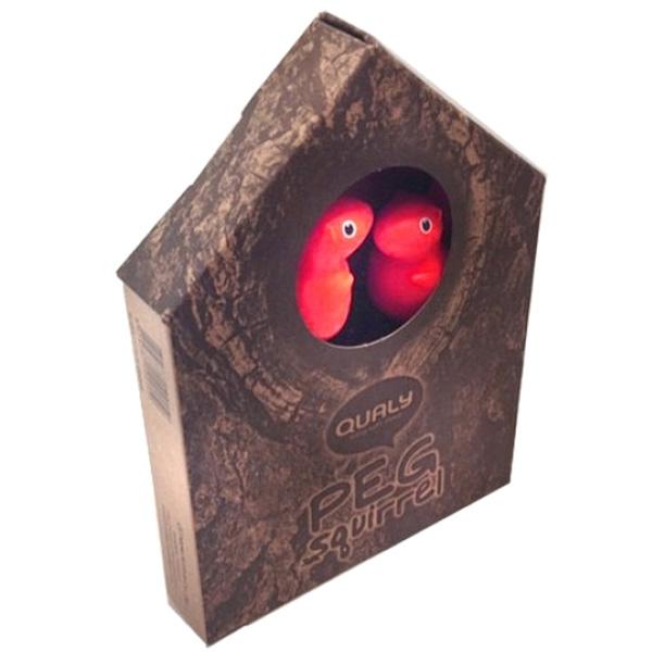 Прищепки-белки красного цвета Qualy Peg Squirrel