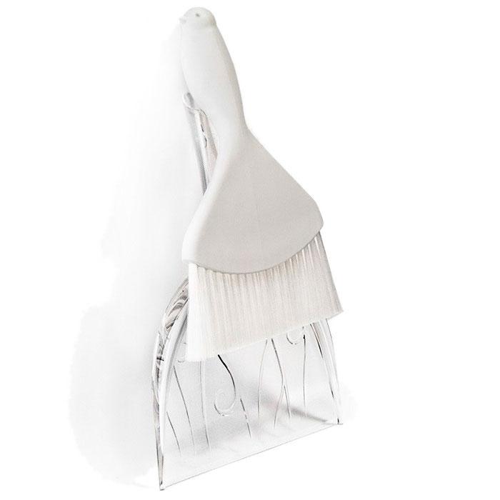 Совок и щетка для уборки Qualy Sweepie Sparrow белого цвета