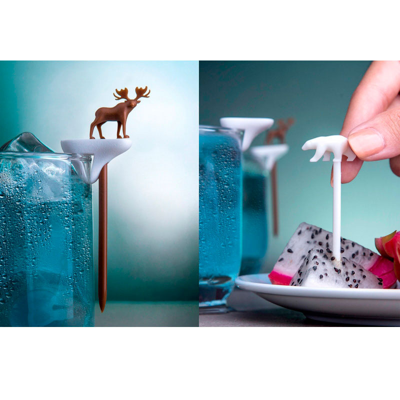 Набор шпажек-маркеров для бокалов Qualy Cool Party Animal