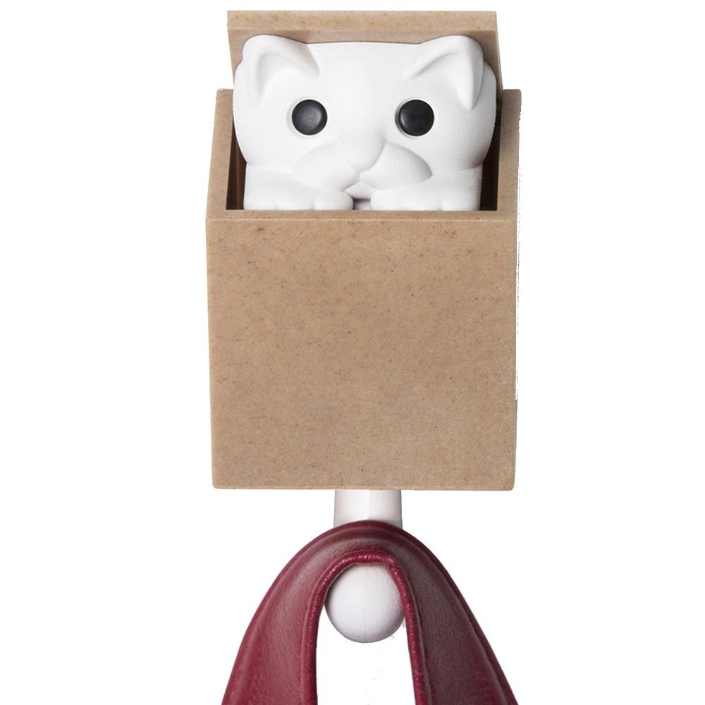 Крючок настенный Qualy Kitt-a-boo с котом