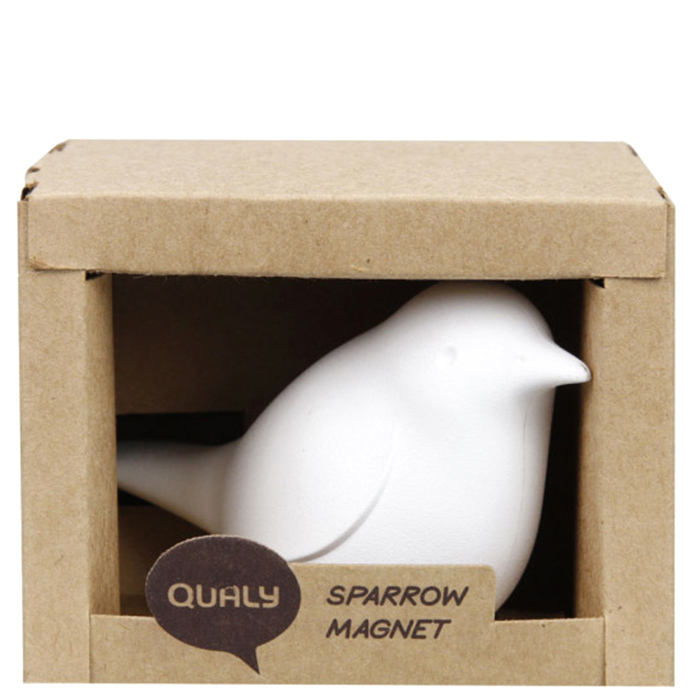 Магнит Qualy Sparrow Qualy белый